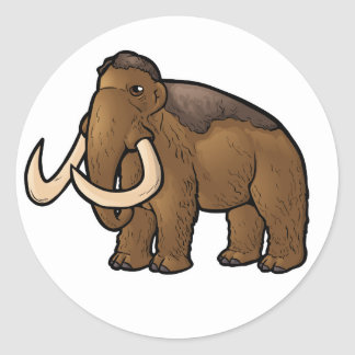 Woolly Mammoth Classic Round Sticker