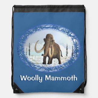 Woolly Mammoth Drawstring Bag
