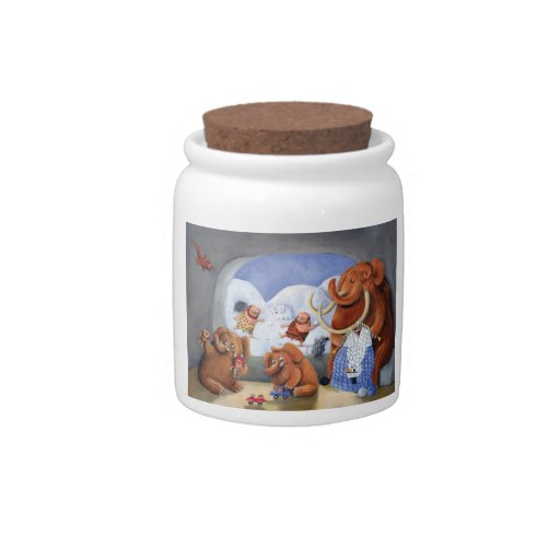 Woolly Mammoth Family in Ice Age Candy Jars
