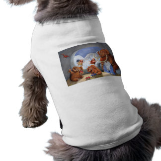 Woolly Mammoth Family in Ice Age Doggie Shirt