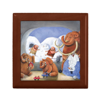 Woolly Mammoth Family in Ice Age Gift Box