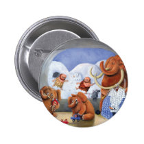 artsprojekt, mammoth, baby mammoth, baby mammoths, prehistoric animal, cave man, ice age, snow fight, snow, winter, cave men, woolly mammoth, children illustration, for kids, Button with custom graphic design