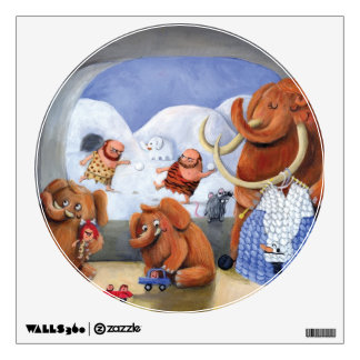 Woolly Mammoth Family in Ice Age Wall Sticker