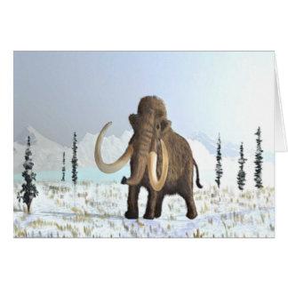 Woolly Mammoth Greeting Card