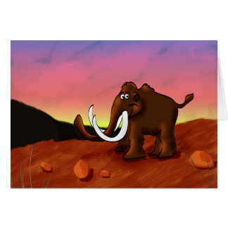 Woolly Mammoth Greeting Card
