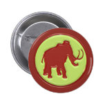 Woolly Mammoth Pinback Buttons