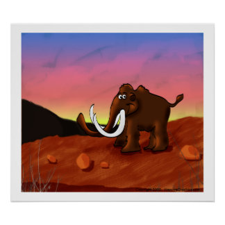 Woolly Mammoth Poster/Print Poster