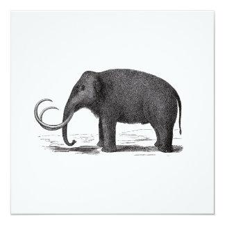Woolly Mammoth Prehistoric Elephant Invitation