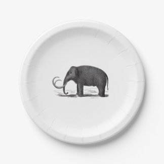 Woolly Mammoth Prehistoric Elephant Paper Plate