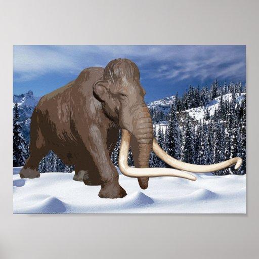 Woolly Mammoth Print