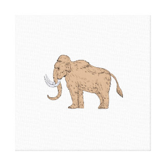 Woolly Mammoth Side Drawing Canvas Print