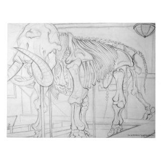 Woolly Mammoth Skeleton Scratch Pad