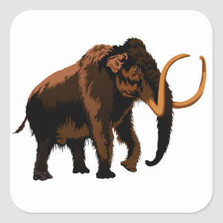Woolly Mammoth Square Sticker