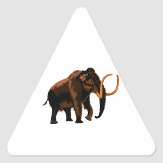 Woolly Mammoth Triangle Sticker