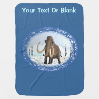 Woolly Mammoth Stroller Blanket