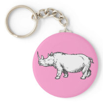 Woolly Rhino Keychain