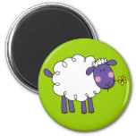 Woolly sheep 2 inch round magnet