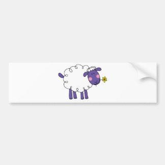 Woolly sheep bumper sticker