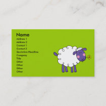Woolly sheep business card