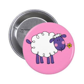 Woolly sheep button
