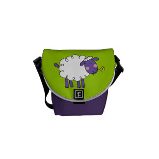 Woolly sheep courier bag