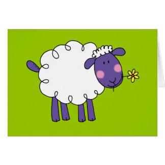 Woolly sheep greeting card