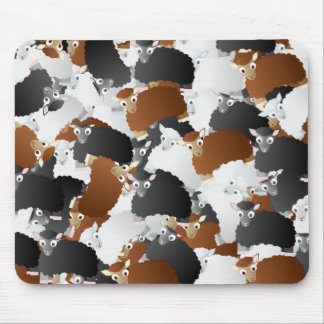 Woolly Sheep Invasion Mouse Pad