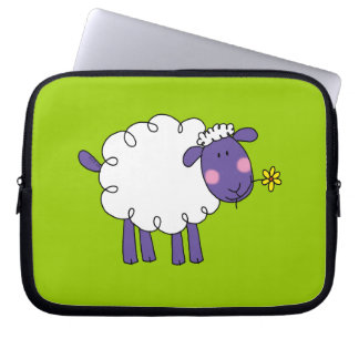 Woolly sheep laptop computer sleeve