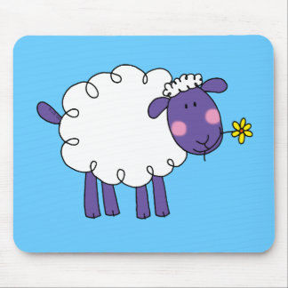 Woolly sheep mouse pad