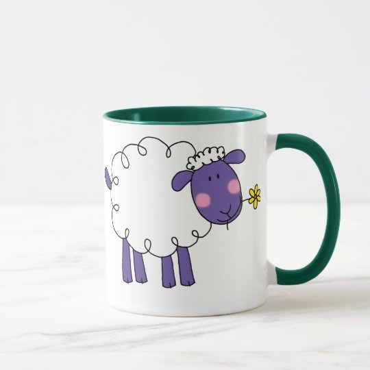 Woolly sheep mug