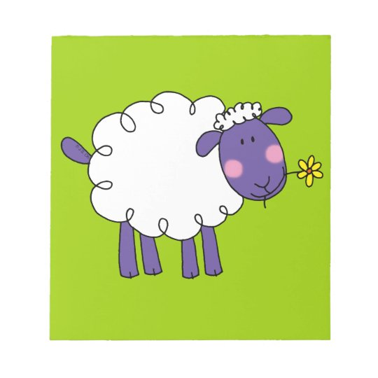 Woolly sheep notepad