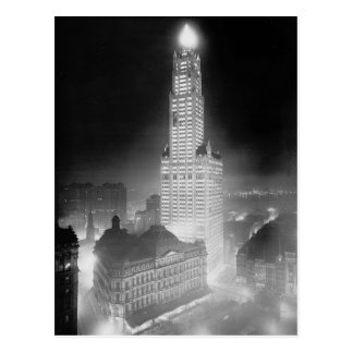 Woolworth Building at Night, 1920 Postcards