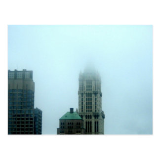WOOLWORTH BUILDING FOG POSTCARDS