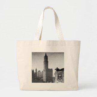 Woolworth Building Lower Manhattan New York City Large Tote Bag