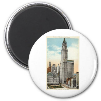Woolworth Building New York Repro Vintage 1921 2 Inch Round Magnet