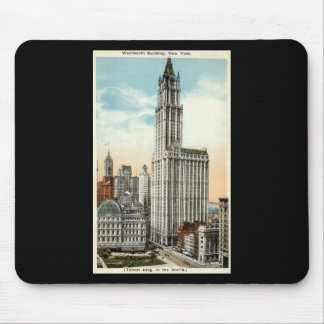 Woolworth Building New York Repro Vintage 1921 Mouse Pad
