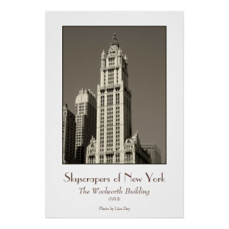 Woolworth Building Poster (sepia)