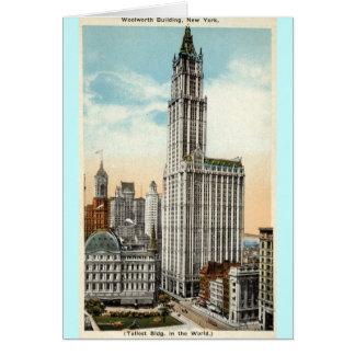 Woolworth que construye el vintage 1921 de Nueva Y Tarjetas