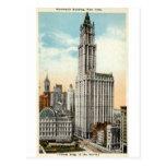 Woolworth que construye el vintage 1921 de Nueva Y Postal