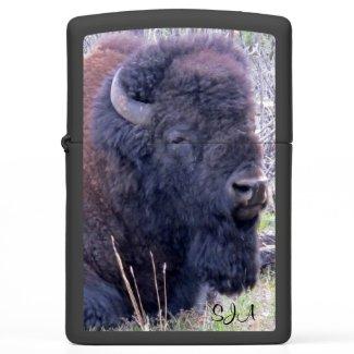 Wooly Bison Design Zippo Lighter