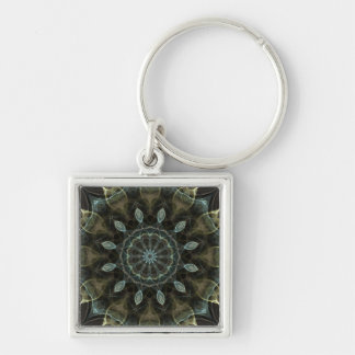 Wooly Green and Blue royal Kaleidoscope Keychain
