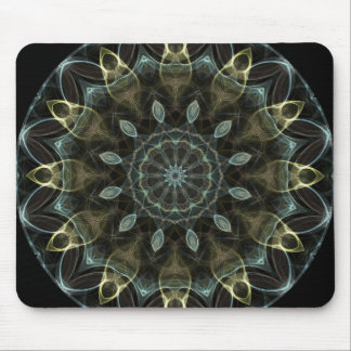 Wooly Green and Blue royal Kaleidoscope Mouse Pad