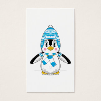 Wooly Hat Penguin Bookmark Business Card