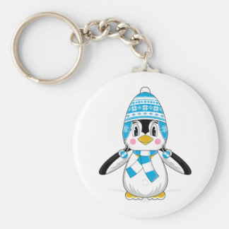 Wooly Hat Penguin Keychain