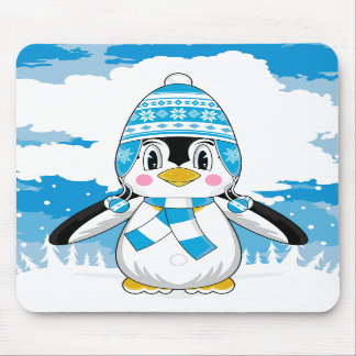 Wooly Hat Penguin Mousepad
