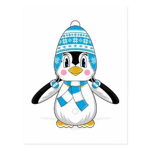 Wooly Hat Penguin Postcard