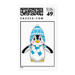 Wooly Hat Penguin Stamp