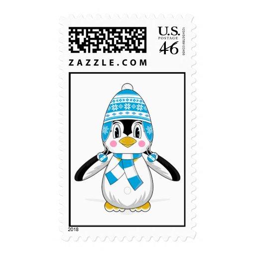 Wooly Hat Penguin Stamp