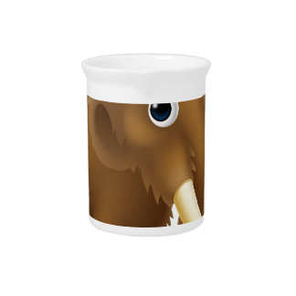 Wooly Mammoth Cartoon Beverage Pitcher