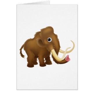 Wooly Mammoth Cartoon Card